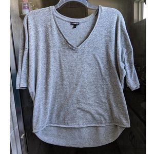 Express Marled Gray Dolman Sweater